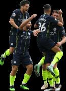 David Silva, Sergio Agüero, Riyad Mahrez & Aymeric Laporte football render
