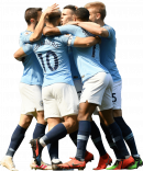 Bernardo Silva, Sergio Agüero, Raheem Sterling, Phil Foden & Oleksandr Zinchenko football render