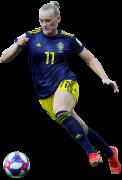 Stina Blackstenius football render