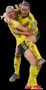 Stina Blackstenius & Kosovare Asllani football render