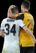 Taulant Xhaka & Granit Xhaka football render