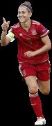 Verónica Boquete football render