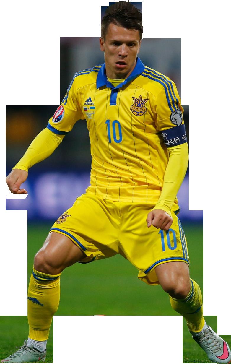 Yevhen Konoplyanka football render FootyRenders