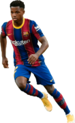 Ansu Fati football render