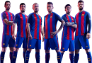 Sergio Busquets, Luis Suarez, Andres Iniesta, Neymar, Lionel Messi & Gerard Piqué