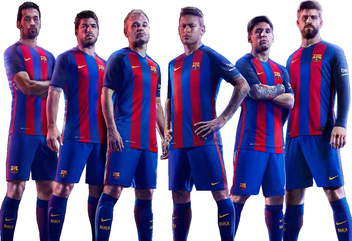 Sergio Busquets, Luis Suarez, Andres Iniesta, Neymar, Lionel Messi & Gerard Piquérender