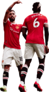 Bruno Fernandes & Paul Pogba football render