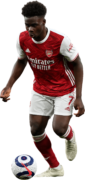 Bukayo Saka football render