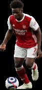 Bukayo Saka football render