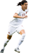 Christine Sinclair football render