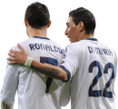Angel Di Maria & Cristiano Ronaldo football render
