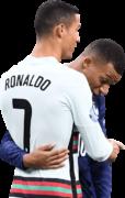 Cristiano Ronaldo & Kylian Mbappé football render