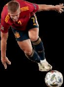 Dani Olmo football render