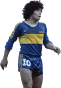 Diego Maradona football render