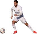 Eden Hazard football render