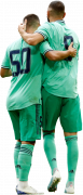 Eden Hazard & Karim Benzema football render