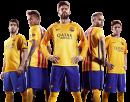 Luis Suarez, Neymar, Gerard Piqué, Andres Iniesta & Lionel Messi