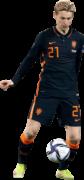 Frenkie de Jong football render