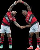 Gabriel Barbosa & Bruno Henrique football render