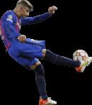Gerard Pique football render