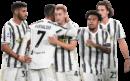 Gianluca Frabotta, Cristiano Ronaldo, Dejan Kulusevski, Weston McKennie & Adrien Rabiot football render