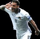 Gianluca Scamacca football render