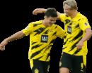 Giovanni Reyna & Erling Braut Håland football render