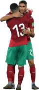 Ilias Chair & Achraf Hakimi football render