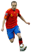 Andres Iniesta football render
