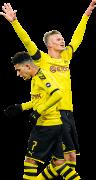 Jadon Sancho & Erling Braut Håland football render