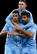 João Cancelo, Phil Foden & Ilkay Gündogan football render
