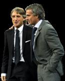 Roberto Mancini & Jose Mourinho