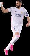 Karim Benzema football render