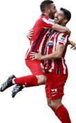 Koke & Luis Suarez football render