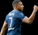 Kylian Mbappé football render