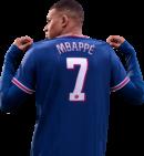 Kylian Mbappé FIFA 22 Cover star football render