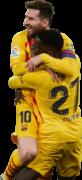 Lionel Messi & Ilaix Moriba football render