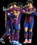 Lionel Messi, Riqui Puig, Ilaix Moriba & Francisco Trincão football render
