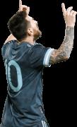 Lionel Messi football render