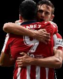 Luis Suarez & Marcos Llorente football render