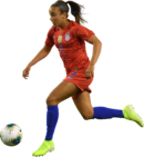 Mallory Pugh football render