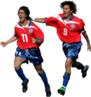 Marcelo Salas & Iván Zamorano football render
