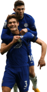 Marcos Alonso & Christian Pulisic football render