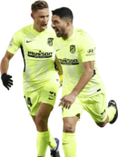 Marcos Llorente & Luis Suarez football render