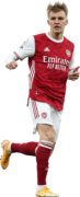 Martin Ødegaard football render