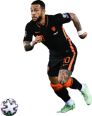 Memphis Depay football render