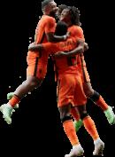 Memphis Depay, Ryan Gravenberch & Nathan Aké football render