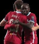 Mohamed Salah, Diogo Jota, & Sadio Mané football render
