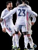 Nacho Fernandez, Ferland Mendy & Lucas Vazquez football render