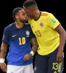 Neymar & Yerry Mina football render